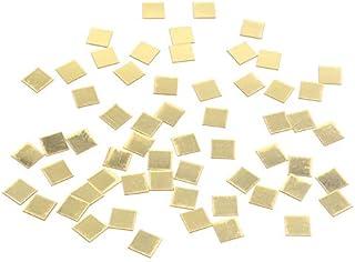 100pcs / Lot 2cm Mini 3D acrílico Espejo Pegatinas de Pared corazón/Forma Redonda Pegatinas calcomanía Efecto Espejo Mosaico salón decoración del hogar - Oro Cuadrado 100pcs