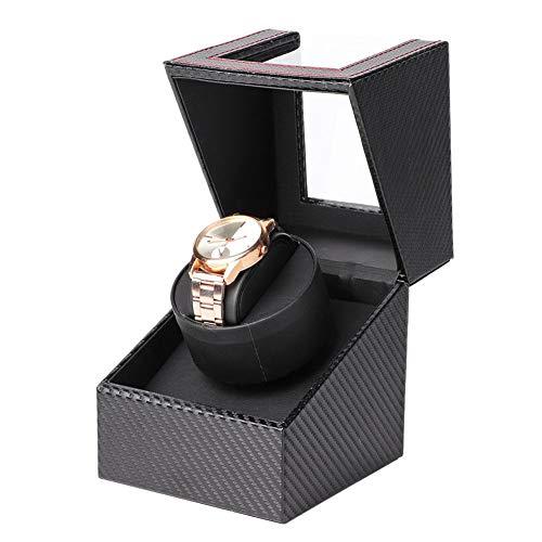 Hozee Enrollador de Reloj Individual para Relojes automáticos Estuche de Almacenamiento de rotación de Relojes con Motor silencioso Caja de Reloj de Pulsera para Mujer para Hombre(EU)