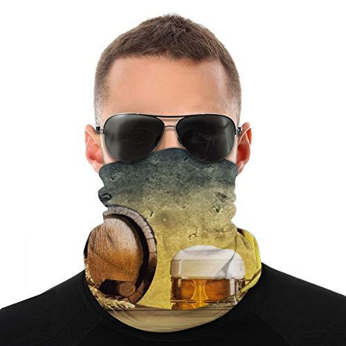 OUYouDeFangA Retro Beer Barrel Headwrap Unisex Multifunción Headwear Poliéster Secado Rápido Suave Diadema Pañuelo para el cuello, Tocado al aire libre Magia Head Pañuelo Bandana Máscara Cuello Polainas para Hombres Mujeres