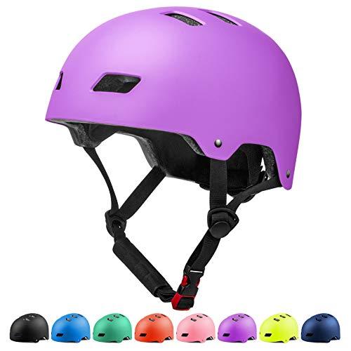 Glaf Adult Cycling Bike Helmet Men Women Bike Helmet Classic Commuter Bike Skate Multi-Sport Helmet Adjustable Lightweight MTB Mountain Bike Helmet for Scooter Roller Skateboard (Purple, L)