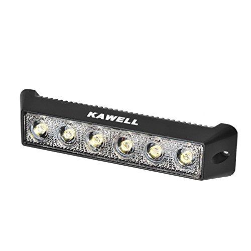 Kawell 18W LED Light Bar Off Road LED Flood Work Light Bar for Cabin Boat SUV Truck ATV Fishing Deck Driving