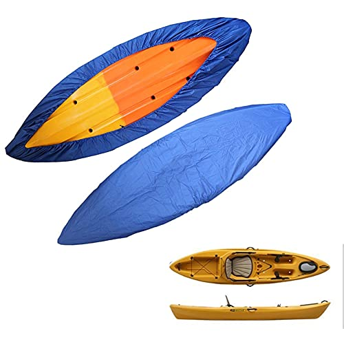 Impermeable Cubierta Kayak,Kayak Fundas Barcos,Funda para Kayak,Canoa Funda de Lancha,para Kayak Canoa Barco Impermeable Resistente a los Rayos U-V Cubierta de Almacenamiento de Polvo