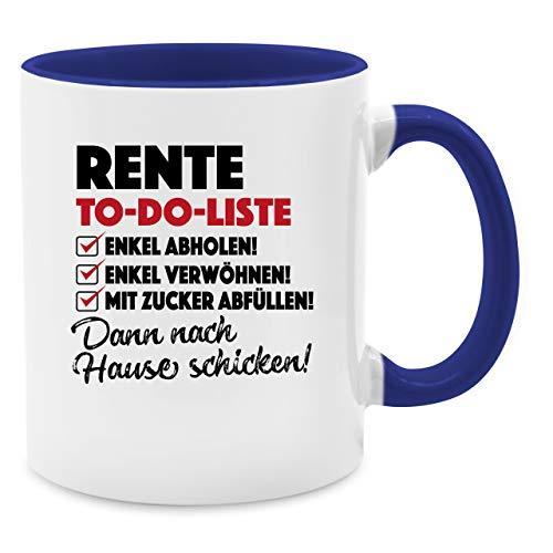 Shirtracer Tasse Berufe - Rente to Do-Liste - Unisize - Dunkelblau - Geschenke Fuer kollegen - Q9061 - Kaffee-Tasse inkl. Geschenk-Verpackung