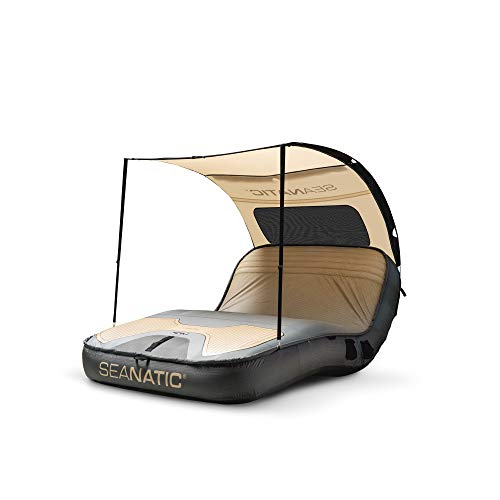 Seanatic Cabana Lounge XXL Badeinsel Schwimminsel für bis 2 Personen (Pirate Black)