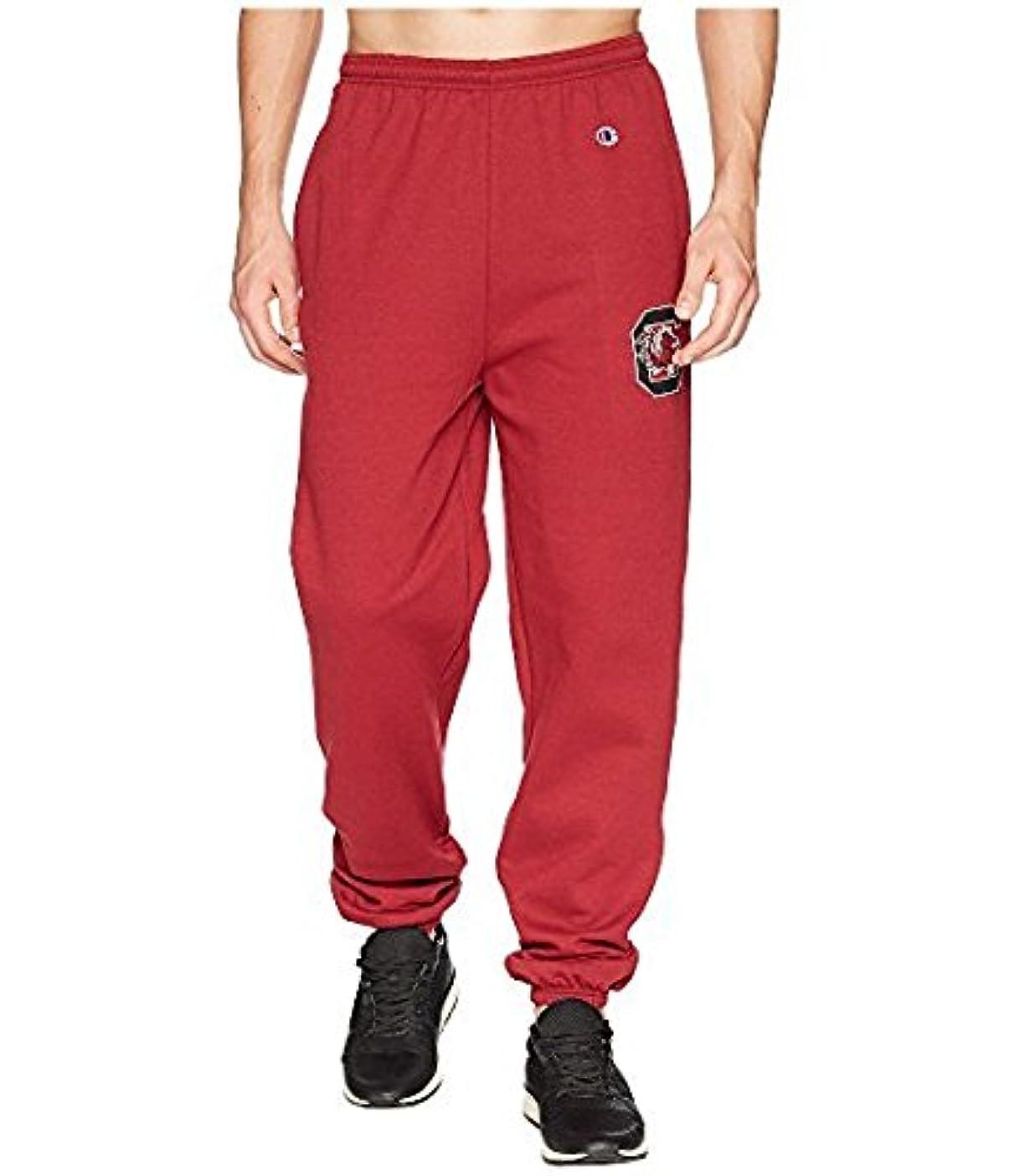 一時的世代男らしいチャンピオン Champion College メンズ パンツ Garnet South Carolina Gamecocks Eco Powerblend Banded Pants SM Garnet [並行輸入品]