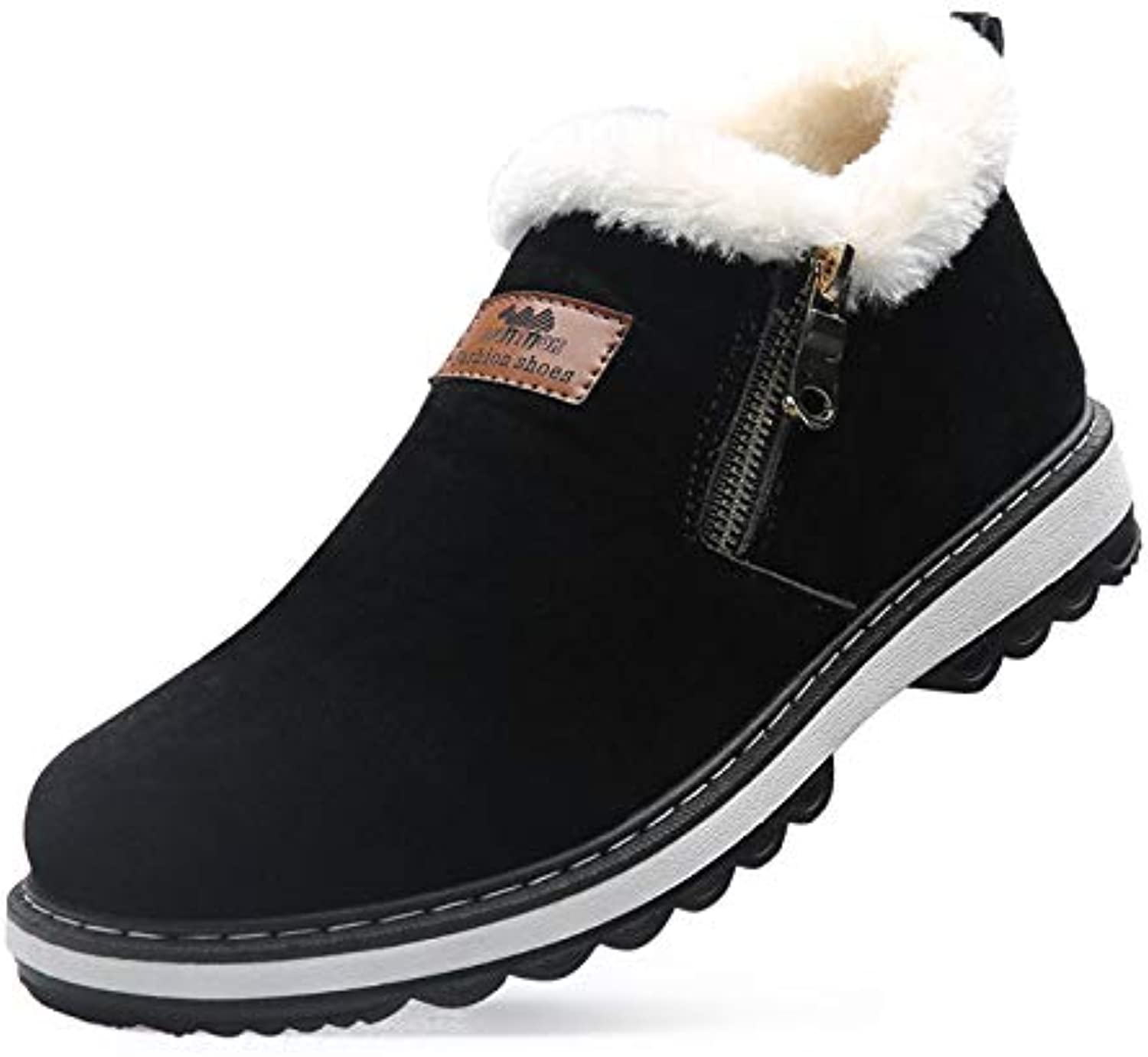 LOVDRAM Men'S shoes Autumn Winter Cotton shoes Men'S Fashion Sports shoes Casual Plus Velvet Warm Running Men'S shoes