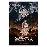Póster decorativo de la temporada 4 de Attack On Titan Anime Japón Manga Season 4, lienzo para pared, para sala de estar, dormitorio, 30 x 45 cm