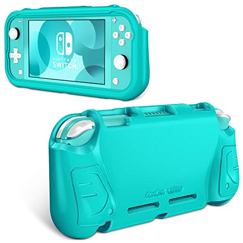 Fintie Case for Nintendo Switch Lite 2019 - Kids Friendly [Ultralight] [Shockproof] Anti-Scratch Protective Cover w/Ergonomic Grip Comfortable Grip Case for Switch Lite Console, Turquoise