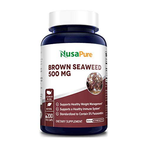 Brown Seaweed Extract 500mg - 200 Veggie Capsules- 200 Day Supply (100% Vegetarian, Non-GMO & Gluten Free) - Fucoidan - Supports Healthy Weight & Healthy Immune System*