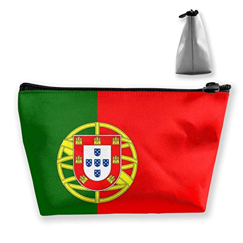 Trapezoid Makeup Pouch Storage Holder Portugal Flag Womens Travel Case Cosmetic Makeup Pouch