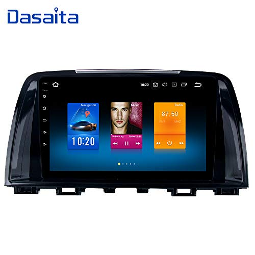 Dasaita 9' Android 10.0 Car Stereo Radio for Mazda 6 Atenza 2014 2015 Octa Core 4GB 64GB GPS Navigation Audio Support Original Steering Wheel Control Bose amp
