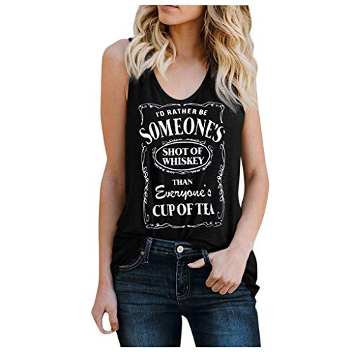 For Sale! Toimothcn Tank Tops for Women Sexy Sleeveless Vest Letter Print Plus Size Tank Top Vest(1-...