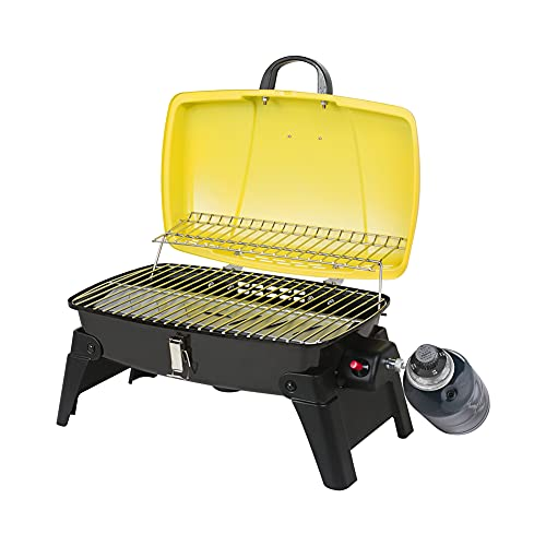 Camplux Portable Gas Grill 10,000 BTU, Small Propane Grills with Piezo Ignitor, Tabletop Grill 189 Square Inch for BBQ, Camping Grills Propane