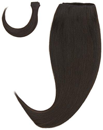 chear européenne soyeuse droite trame Extension de cheveux humains avec de mélange tissage noir numéro 1b, 35,6 cm
