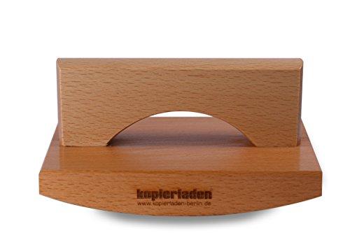 Wiestempel met eigen logo of tekst, 120 x 170 mm, extra grote stempel, individualiseerbaar - afrolstempel, houten stempel, signeerstempel