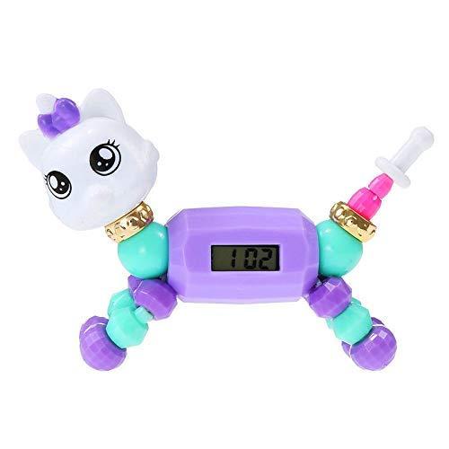 SGSG Wecker Cartoon Kinder Uhr Mode Nette Kinder Armband Elektronische Uhr Puzzle Kleintier Spielzeug Kinderarmband Uhren Junge Mädchen Uhr