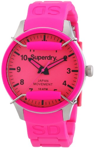 Superdry Damen-Armbanduhr Analog Quarz Silikon SYL120P