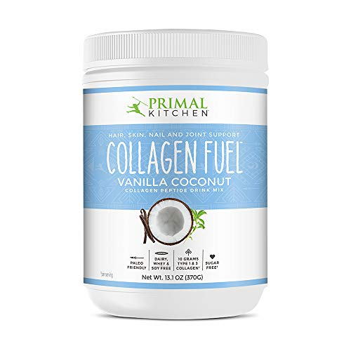 Primal Kitchen Collagen Fuel Protein Mix, Vanilla Coconut - Non-Dairy Coffee Creamer & Smoothie Booster- Supports Healthy Hair, Skin, and Nails, 24 Servings