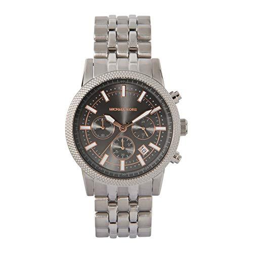 Michael Kors Hutton Chronograph Uhr mit silberfarbenem Edelstahlarmband für Herren MK8628