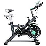 Cecotec Bicicleta Indoor Extreme 20, Volante inercia, 20 kg, Pulsómetro, Pantalla LCD, Resistencia Variable, Estabilizadores, SilenceFit, negro/gris/verde