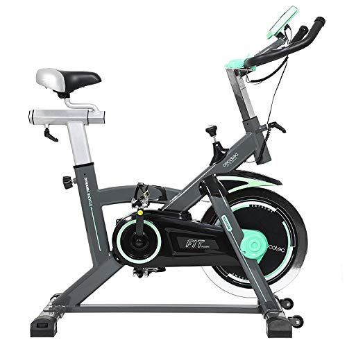 Professional Indoor Training Exercise Bike. 20 kg Flywheel, Heart Rate Monitor and LCD Screen. Fitness Cardio Workout. Adjustable Resistance. Silence Fit. Cecotec Extreme 20.