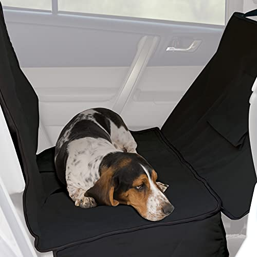 K&H Pet Products Car Seat Saver Deluxe with Removable Front Seat Barrier Protects your Back Seat