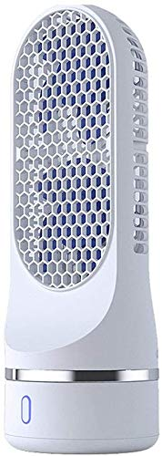 RENXR Bladeless Fan Luftkühler Leafless Fan Bodenstehend Negative Ionen Sicherheit Kontrollturm Fan Double Head Fan Automatische Shaking Mini-Ventilator USB Aufladbare