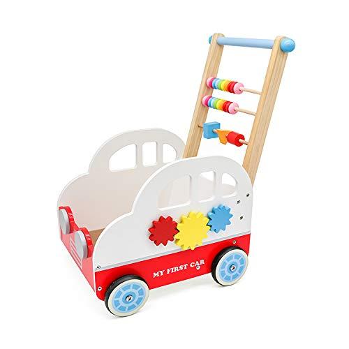 """Cuddlez Auto Lauflernwagen """"My First Car"""" – natürliche Lauflernhilfe für Babys und Kinder, spielend Laufen Lernen, mit Motorik-Spielmöglichkeiten & Stauraum für Spielzeug, ab 12 Monate"""