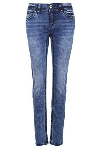 Blue Monkey Damen Jeans Laura 30135 Logo