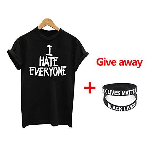 XWWS I Can't Breathe I Hate Everyone T-Shirt Adulte - Chemise Noire T-Shirt À Manches Courtes Pop Culture,2,XXXL