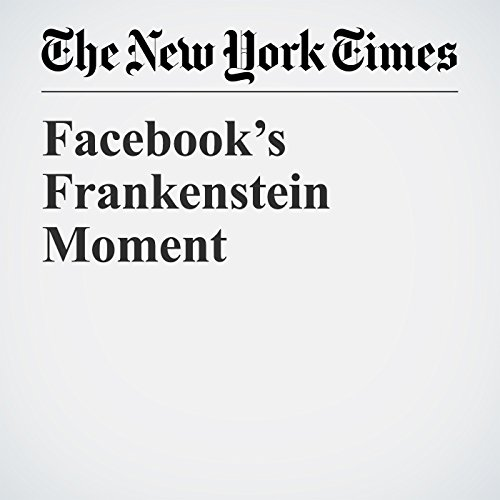 Facebook's Frankenstein Moment copertina