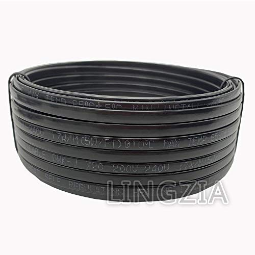 LINGZIA Cinta de calefacción tipo 220v Cable de calefacció