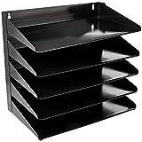 Amazon Basics Bandeja organizadora para documentos de oficina de metal de 5 niveles, 38 x 23 x 33 cm