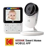 KODAK CHERISH C220 — Cámara Vigilabebe con WiFi y App móvil, monitor de 2.8...
