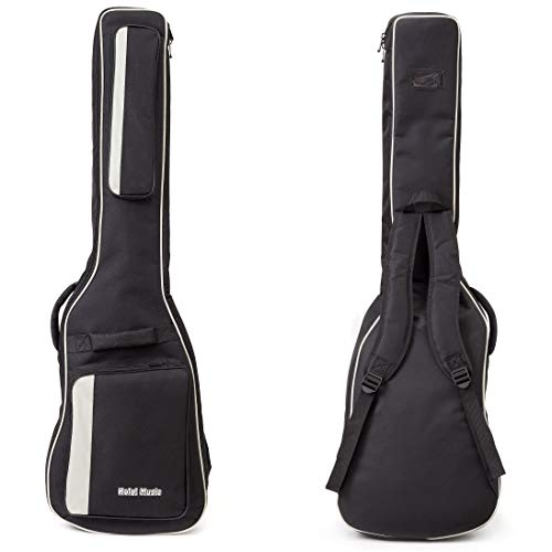 Bass Guitar Gig Bag by Hola! Music, Deluxe Series with 15mm Padding, Black