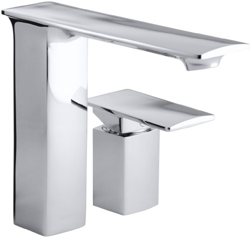 KOHLER K-14775-4-CP Stance Single Control Deck-Mount Bath Faucet, Polished Chrome