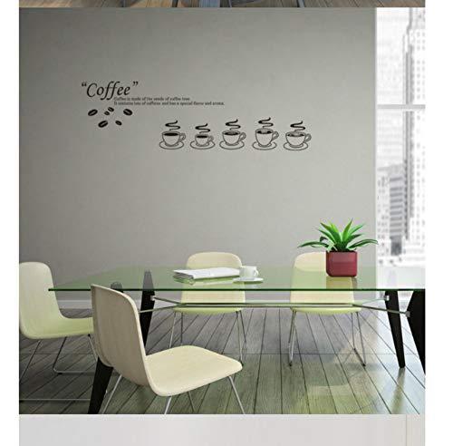 ZJMIQT Verre de café Salon Cuisine Aluminium Gros Autocollants personnalisés Amovible