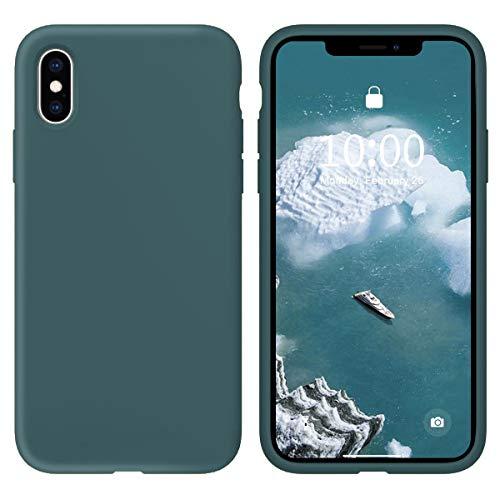 Oihxse Silicone TPU Gommage Case Compatible pour Huawei P20 Coque Ultra Fine Souple Protection Housse Mignon Couleurs Bumper Étui Anti-Rayures Cover(Bleu foncé)