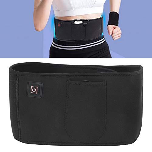 Cinturón de masaje con vibración eléctrica USB, masajeador de cintura adelgazante para quemar grasa ajustable, soporte de cintura completo para dar forma a la reducción de grasa