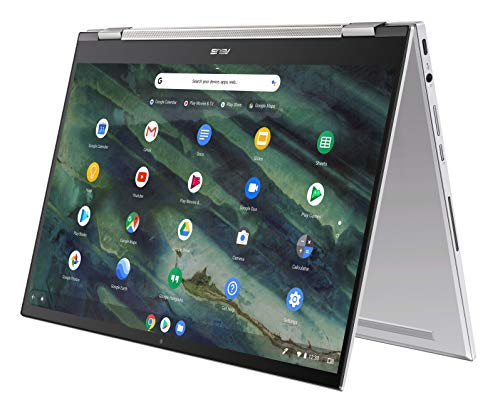 "ASUS Chromebook Flip C436 2-in-1 Laptop, 14"" Touchscreen FHD NanoEdge, Intel Core i3-10110U, 128GB PCIe SSD, Fingerprint, Backlit Keyboard, Wi-Fi 6, Chrome OS, Magnesium-Alloy, Silver, C436FA-DS388T"