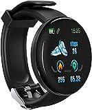 BNNNG Smart Watch è adatto per telefoni Android e ios, compatibile con iPhone Samsung, smartwatch da nuoto impermeabile IP68 con fitness tracker, cardiofrequenzimetro, nero per uomo e donna