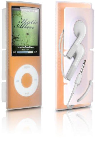 DLO 71027/10 Silikon-Tasche mit Kopfhörerlösung für iPod Nano 4G klar