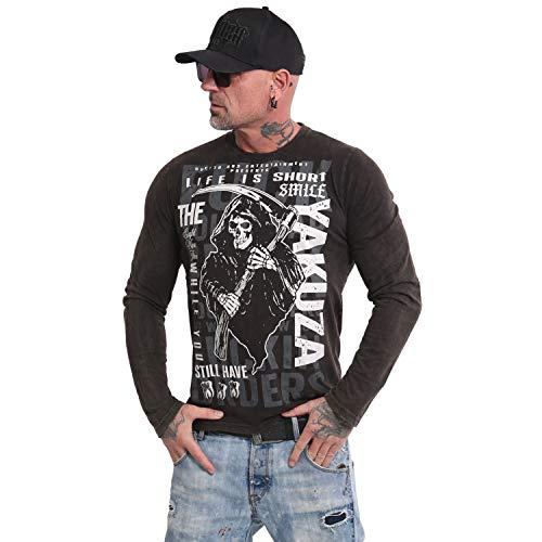 Yakuza Herren Life is Short Longsleeve T-Shirt, Schwarz, XXL