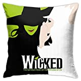 MOEEZE Wicked The Musical Decorative Pillowcase Throw Pillow Cushion Cover 18x18 Inch
