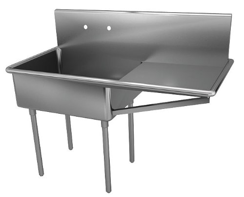 Sale!! Just Manufacturing - NSFB-124-24R-2 - Stainless Steel Scullery Sink with Drainboards, Without...