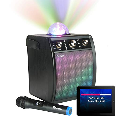 Portable Karaoke Machine & Speaker with Wireless Microphone & Disco Party...