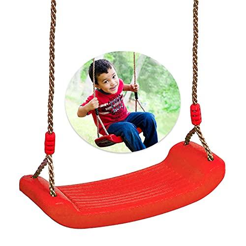 LISOPO Schaukel Garten Schaukelkinder Schaukel Outdoor/Indoor Kinderschaukel Plastik Schaukelsitz Schaukelbrett Brettschaukel für Kinder zum Schaukeln Höhenverstellbar Rrutschfest