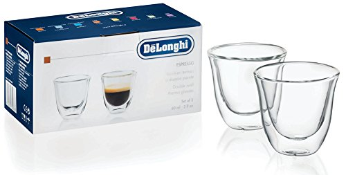 デロンギ(DeLonghi)ダブルウォールグラスエスプレッソ60ml(2個セット)DWG2S-060透明