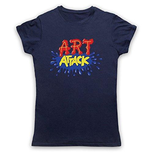 My Icon Art & Clothing Art Attack Kids TV Logo Buchanon Disfraz Camiseta para Mujer Azul Azul Marino 40
