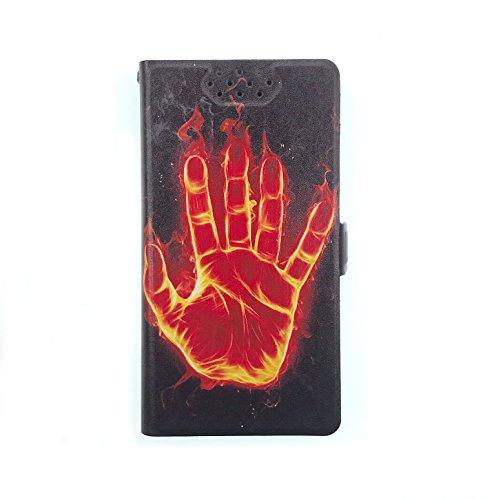 Stengh Archos 50d Oxygen Plus Hülle, Flip Phone Wallet mit Kartenschlitzen Standfunktion Magnetisch Off Phone Hülle HS